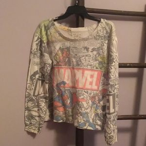Distressed MARVEL sweatshirt